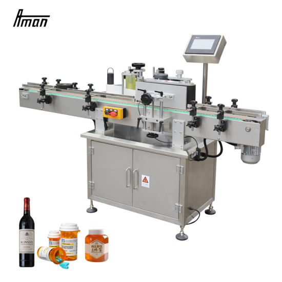Custom Adhesive Sticker Round Cone Labeler Automatic Labeling Machine for Small Big Bottle
