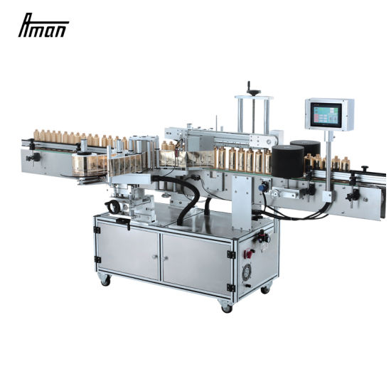 High Speed Automatic Wrap Round Bottle Stickers Labeling Machine for Food Beverage