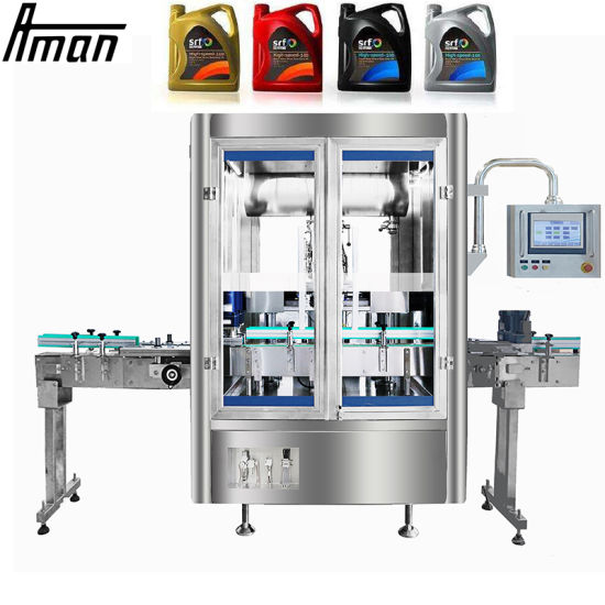 High Efficiency and Precision Fully Automatic Lubricating Oil Liquid Filling Machine