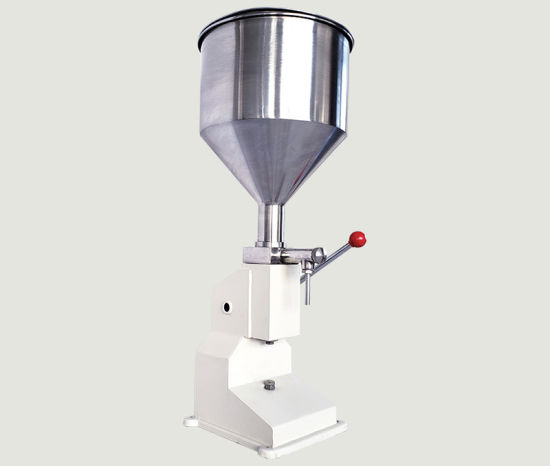 A03 5-50ml Manual Stainless Steel Paste and Liquid Bottle Filling Machine for Cream Shampoo Cosmetic