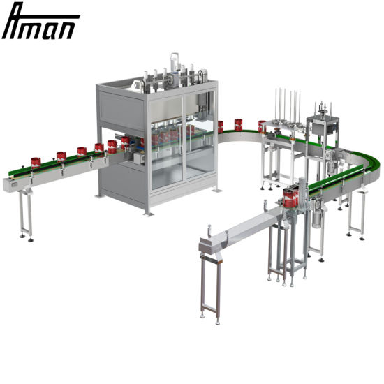 Automatic Alcohol Liquid Solvent Base Paint Explosion Proof Filling and Capping Machine